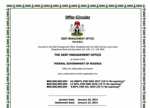 Nigerian govt fresh investment in N150bn bonds auction