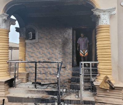 Unidentified Arsonists Torch Sunday Adeyemi 'Igboho's House