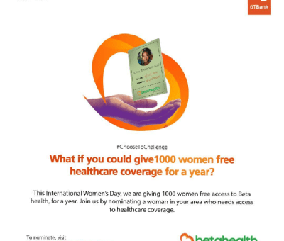 #GiveHerBetaHealth: GTBank Champions Access To Health Insurance For Women On International Women's Day