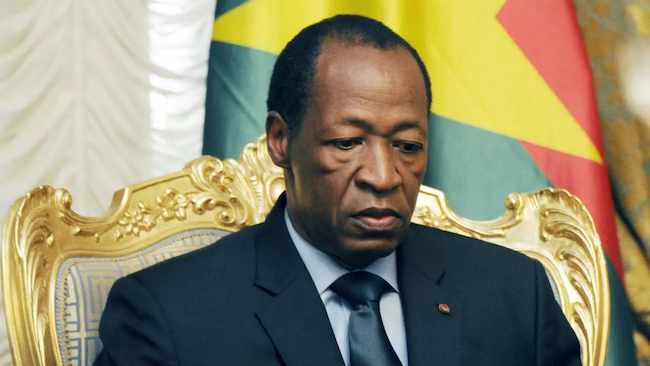Compaoré, Former Burkina Faso President Charged For Murder