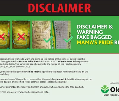 5 Ways To Recognise An Original Bag Of Mama's Pride Rice