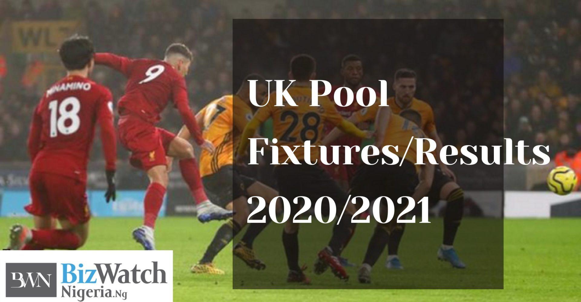 WEEK 17 Pool Fixtures