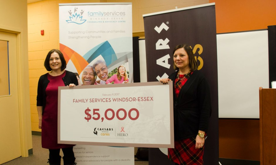 Family Services Windsor-Essex Celebrates Donation From Caesars Windsor