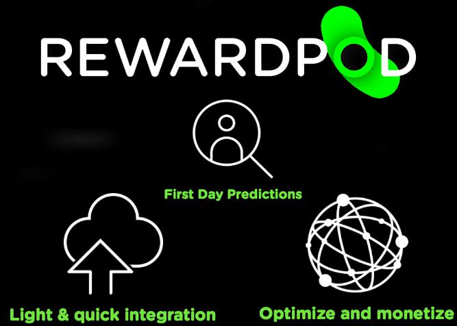 Rewardpod predictive analytics for freemium apps