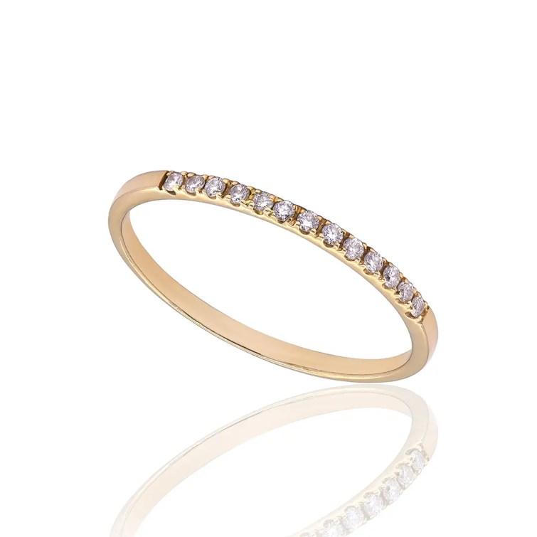 """Пръстен от 18к жълто злато с диаманти """"Alliance"""""""