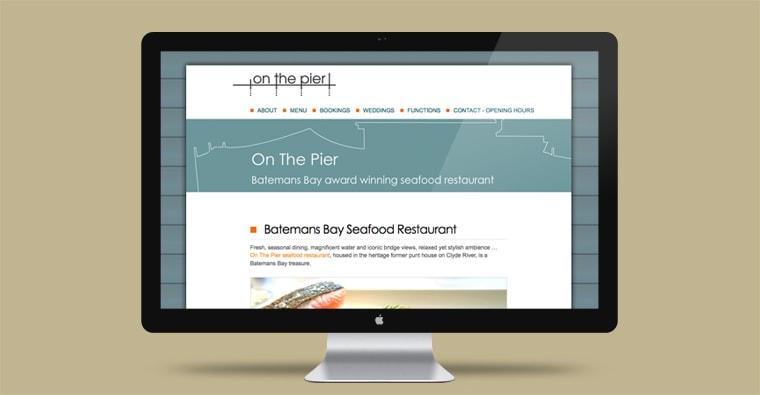 on the pier website design
