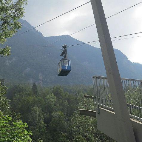 Kamniška Bistrica, lanovka na Veliku Planinu.