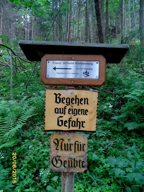 Cesta k ferate TVN - Franz Scheikl Klettersteig.