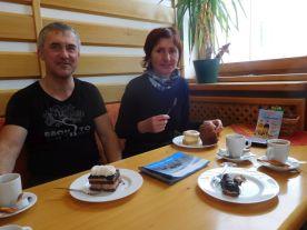 Občerstvenie v cukrárni v Prášiloch.