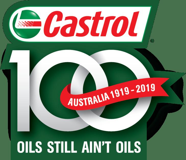 Castrol logo with the text oils still ain't oils Australia 1919 - 2019