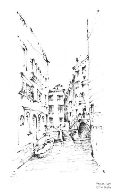 Tim Bjella Sketches - Venice 2