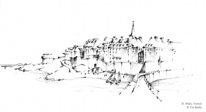 Tim Bjella Sketches - St. Malo, France