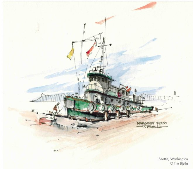 Tim Bjella Sketches - Tugboat