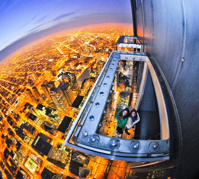 Willis Tower Observation Pods from Above