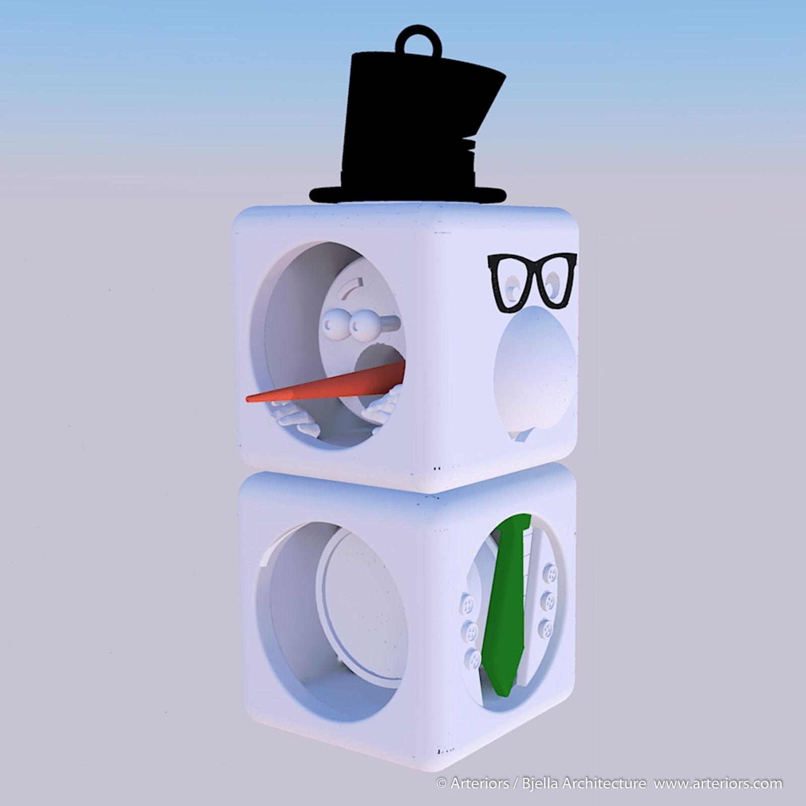 Snowman Ornament Concept by Tim Bjella-3