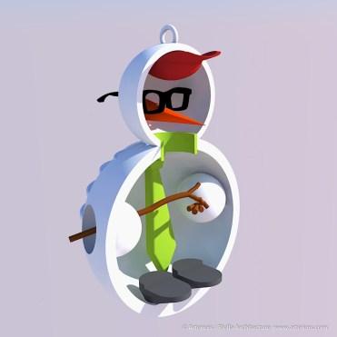 Snowman Ornament Concept by Tim Bjella