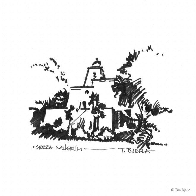 Tim Bjella Sketches - Serra Museum, San Diego