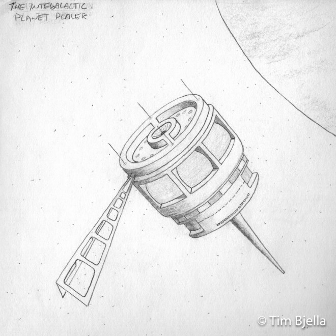 Grade School Drawings - Life Before the Death Star - Tim Bjella