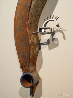 Steel Mask Art by Tim Bjella Arteriors Architects