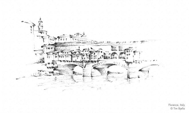 Tim Bjella Sketches - Firenze Ponte Vecchio