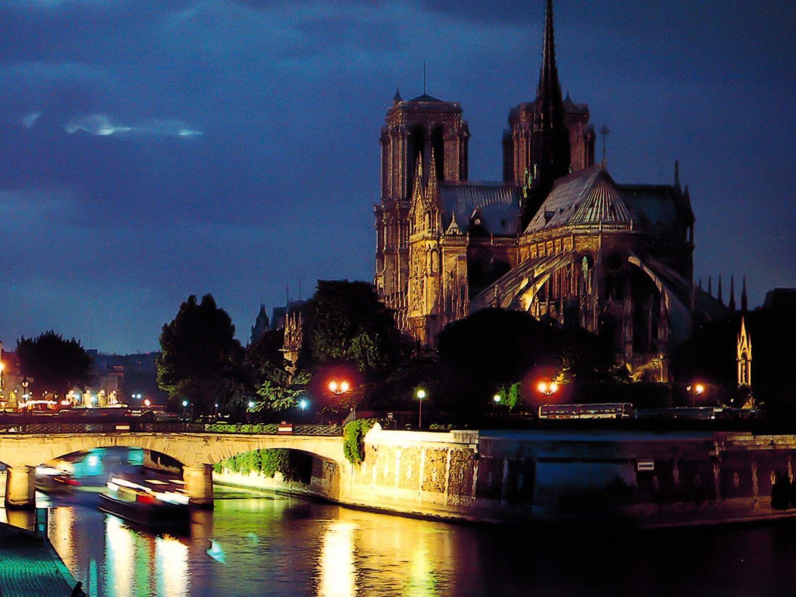 Notre Dame Cathedral - Paris, France - Evening