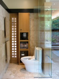 Contemporary Glass Bathroom by Tim Bjella - Arteriors Architects