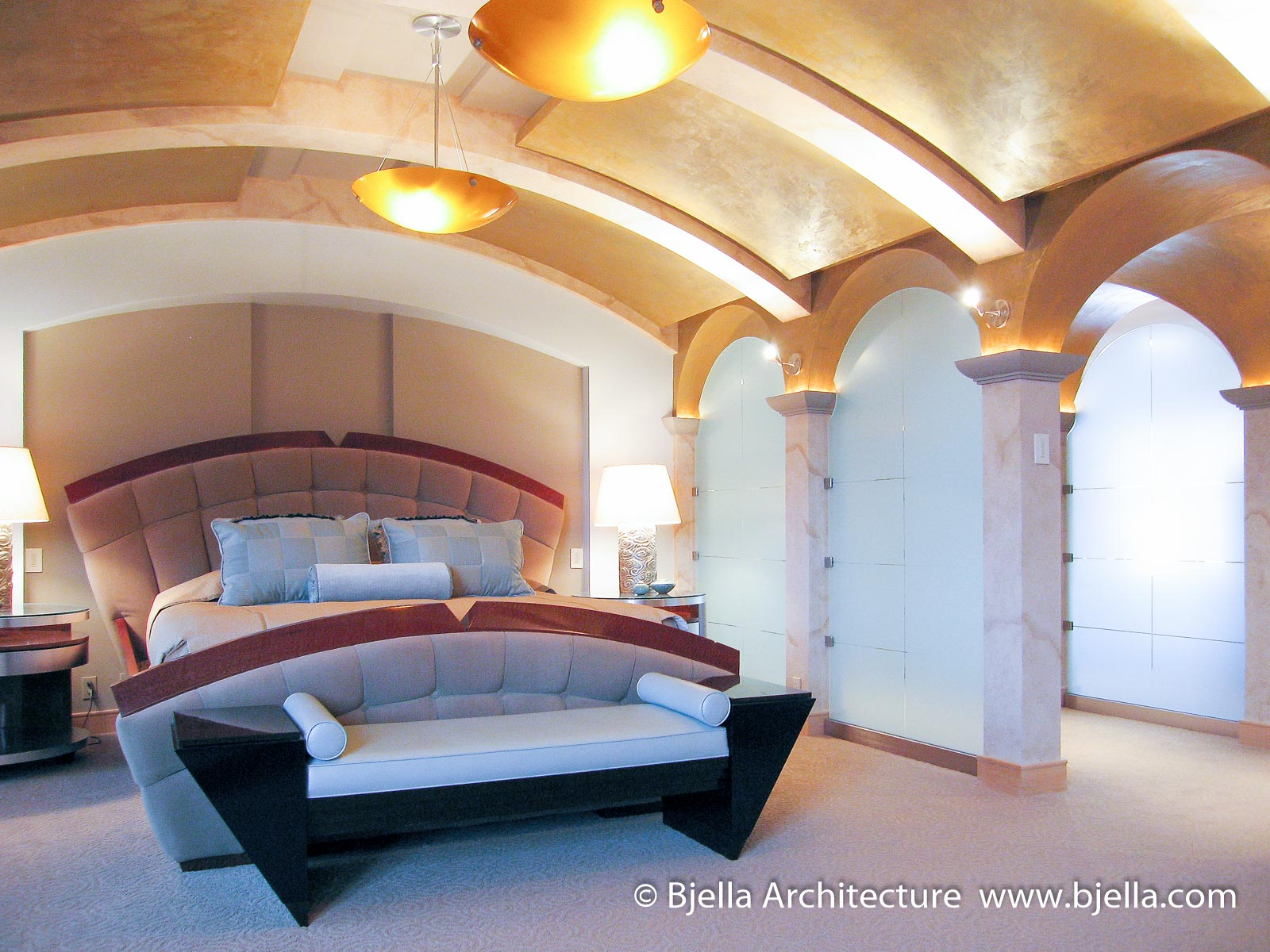 modern-bedroom-with-barrel-arch-ceiling-by-tim-bjella-of-arteriors-architecture