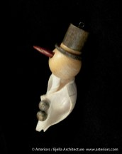 Bjella Snowman Ornament - Day 1 - Seashells-6