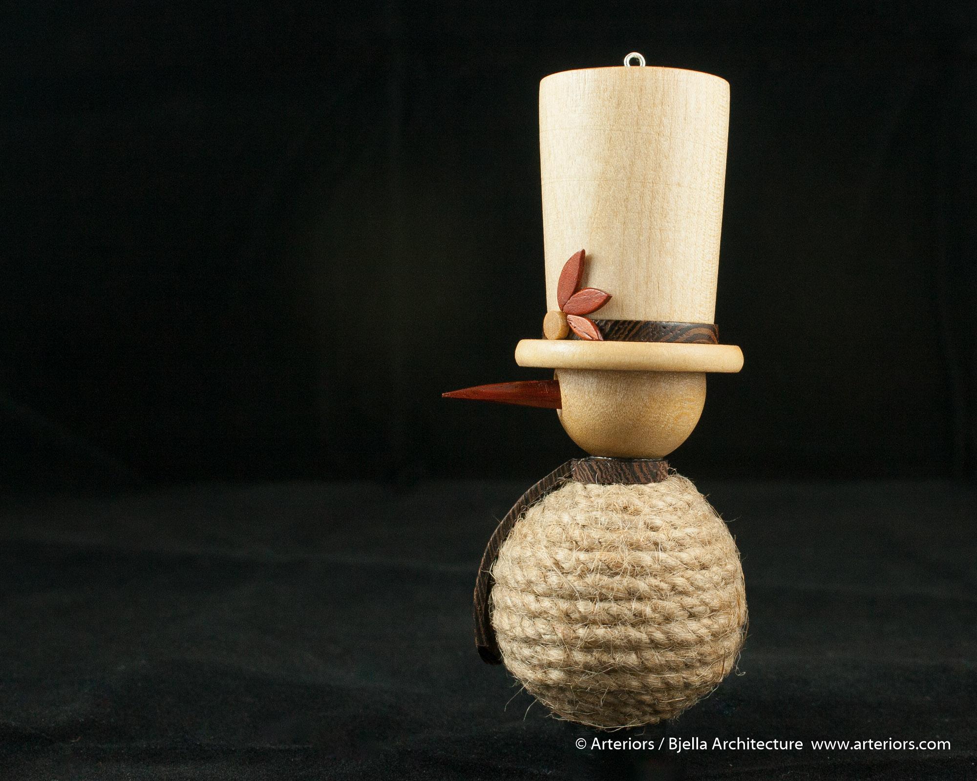 Bjella Snowman Ornament - Day 11 - Rope-2