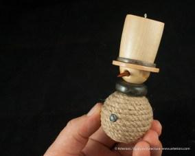 Bjella Snowman Ornament - Day 11 - Rope-24