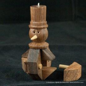 Bjella Snowman Ornament - Day 13 - Puzzle-59