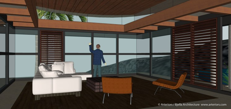 Modern Glass Island Home Computer Model by Arteriors Architects-2