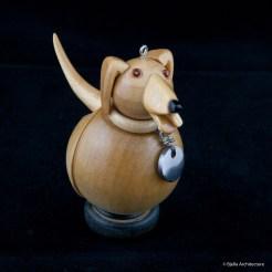Snowman Ornament Labrador by Tim Bjella-3