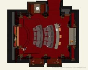 California Modern Home Theater Design by Tim Bjella - 2-3