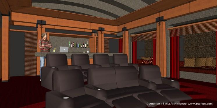 California Modern Home Theater Design by Tim Bjella - 2-5