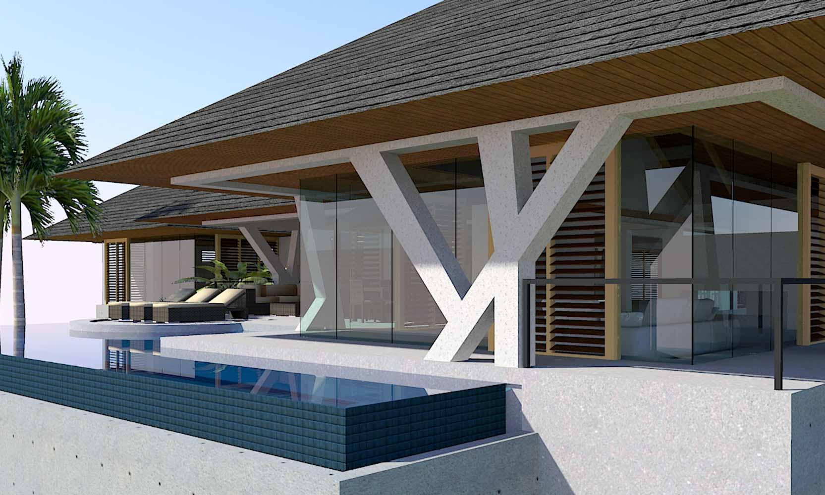 Modern Glass House Design in Kauai, Hawaii by Bjella Architects, Los Angeles