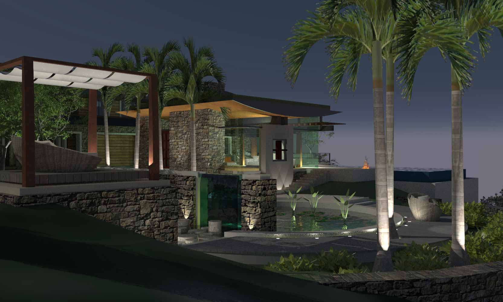 Los Angeles Hillside Modern Glass House by Bjella Architects, Calabasas California