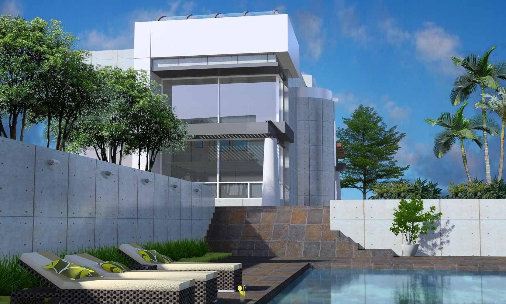 Modern Glass Home Design in California by Bjella Architects Los Angeles