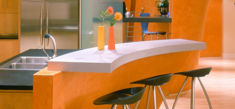A Lively, Modern Orange Kitchen