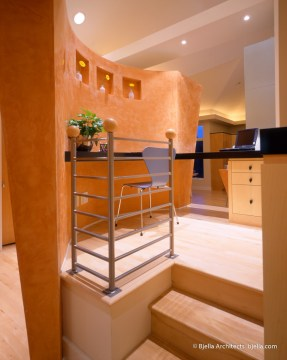 Lively Modern Orange Kitchen Study