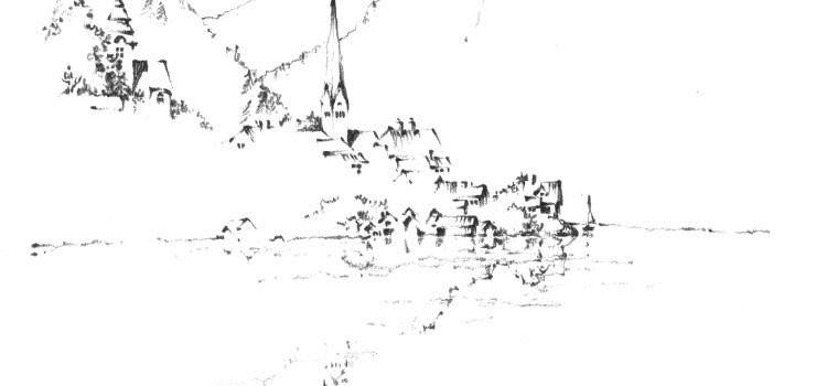 Sketch of Hallstatt, Austria