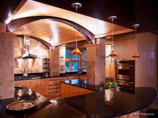 Modern Arched Kitchen Ceiling