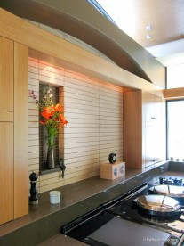 Vaulted Arched Oak Ceiling Modern Asian Zen Kitchen