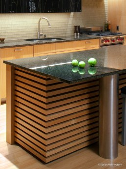 Modern Zen Kitchen with Banded Cabinets