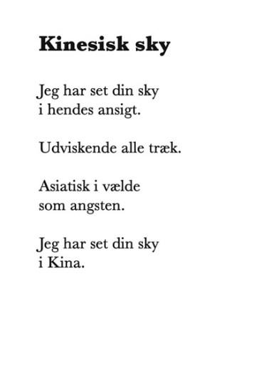 Skyen i et dansk-kinesisk digt. Foto: Lars Hougaard Clausen