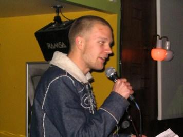 Thorkil Jacobsen til hans vist nok første (?) poetry slam i januar 2005.