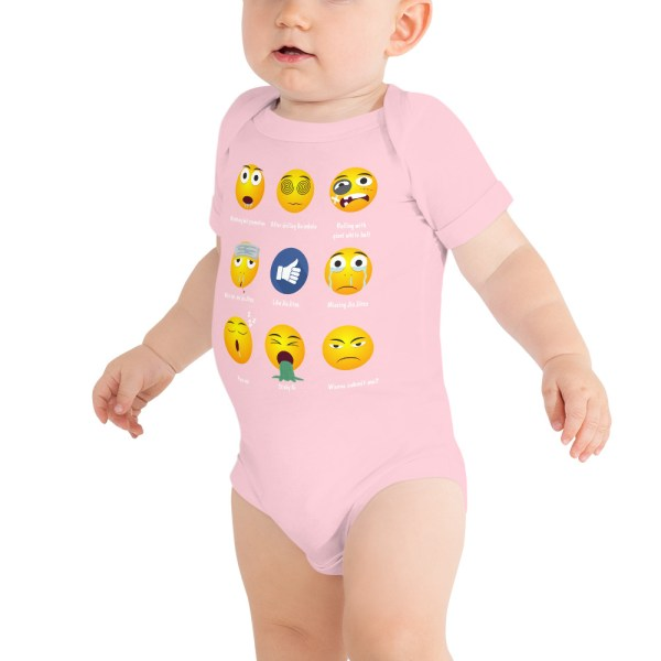 BJJ Baby Body Suite Brazillian Jiu-Jitsu 9 Shades Emoji Emoticons 5