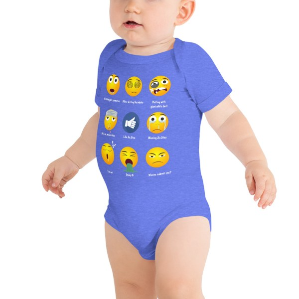 BJJ Baby Body Suite Brazillian Jiu-Jitsu 9 Shades Emoji Emoticons 4