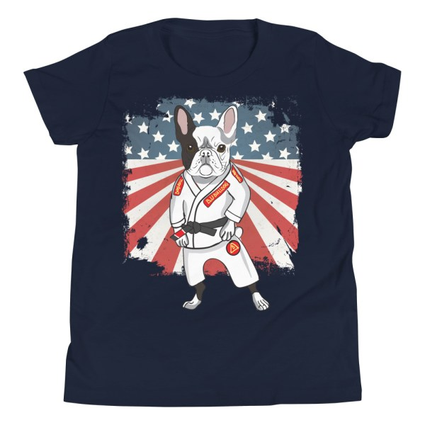 BJJ Youth T-Shirt - Brazilian Jiu-jitsu BJJ Master French Bulldog 4