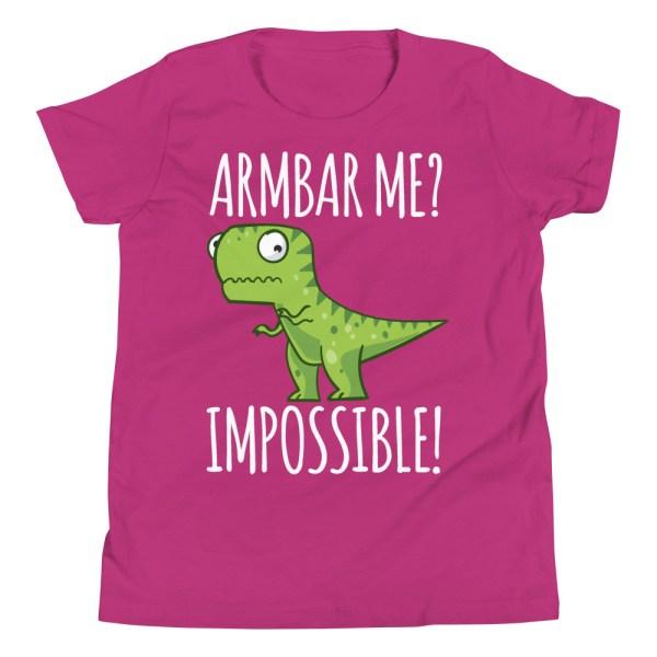 Youth/Kid BJJ T-Shirt Brazilian Jiu-Jitsu Armbar T-Rex? Not Possible 6